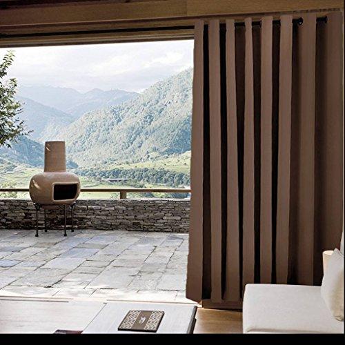 (ChadMade Outdoor Waterproof Curtain Chocolate 84
