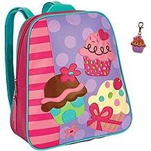 Stephen Joseph Girls Cupcake Backpack with Zipper Pull - Cute Book Bags