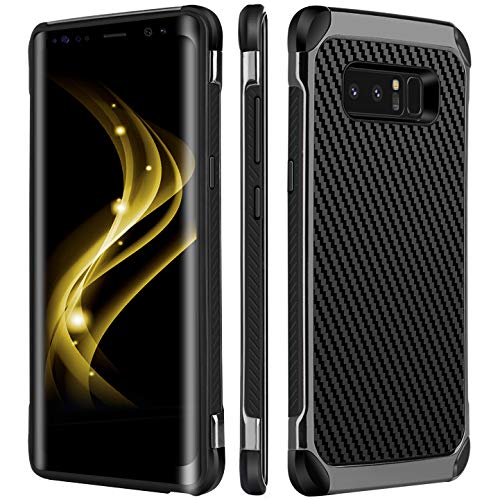 Note 8 Case,Galaxy Note 8 Case,BENTOBEN 2 in 1 Drop Protection Anti-Scratch Hybrid PC with Carbon Fiber Texture Shockproof Protective Phone Case for Samsung Galaxy Note 8 (6.3 inch) Black/Gray