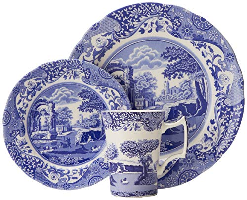 Spode Blue Italian 12 Piece Set (Dinnerware Fine Porcelain Set)
