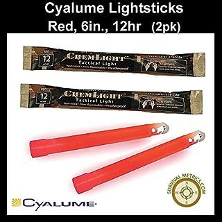 """product image for Cyalume ChemLight Lightsticks, Red 6"""" 12 hr. 2pk."""