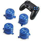 PS4 Bullet Buttons Aluminum Custom Metal Playstation 4 DualShock 4 Replacement Standard Buttons Spare Parts Accessories for Modded PS4 Controllers Bullet Blue Review