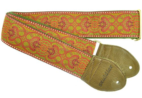 Souldier GS0397 Guitar Strap, Arabesque Red