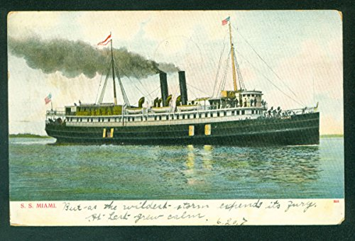 SS MIAMI Steamer Passenger UDB Steam Ship Florida FL Postcard ()