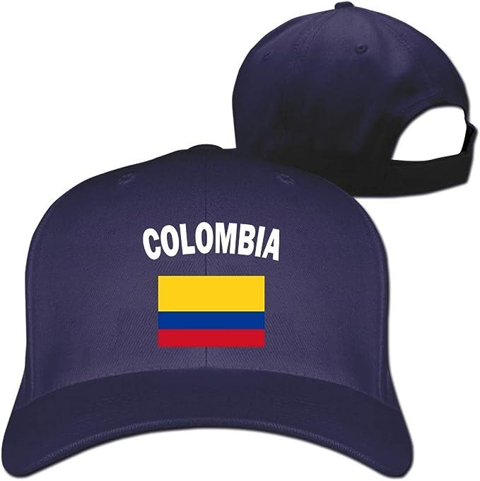 Pimkly Unisexo Sombreros/Gorras de béisbol, Colombia Flag-1 Cotton ...