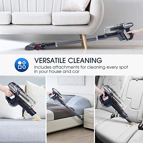 NOVETE Cleaner, Ultralight with 2 Modes, 7 HEPA 40-Minute Battery, and Wall