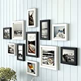 Photo Wall, Modern Simple Solid Wood Photo Wall, Creative Combination Frame Wall, Living Room Bedroom Photo Wall Frame Wall ( Color : 1# )