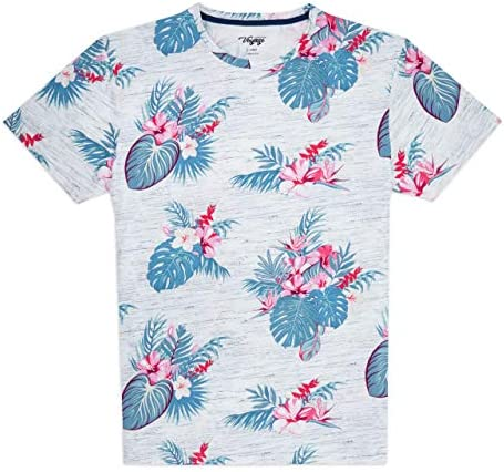 CRAFT + FLOW Mens Tropical Print Palm Tree Shirts – T Shirts for Men in S-XL