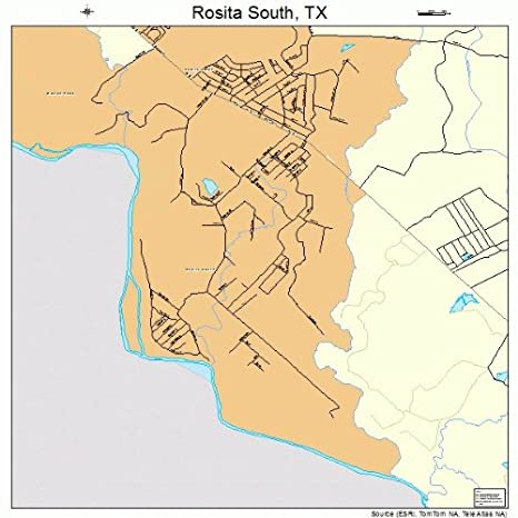Map Of South Texas Towns.Amazon Com Large Street Road Map Of Rosita South Texas Tx