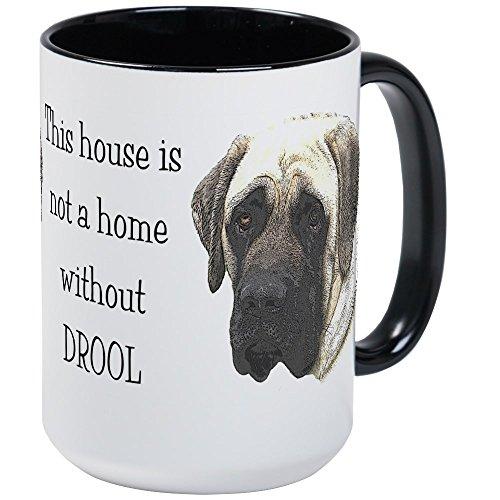 me W/Out Drool - Mastiff Large Mug - Coffee Mug, Large 15 oz. White Coffee Cup ()