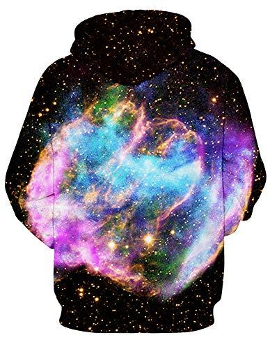 Amoma cappuccio con uomo Felpa Color Nebula da xIF5gq