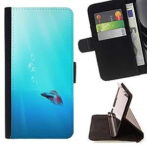 Momo Phone Case / Flip Funda de Cuero Case Cover - Lindo Neon Coral Fish - MOTOROLA MOTO X PLAY XT1562