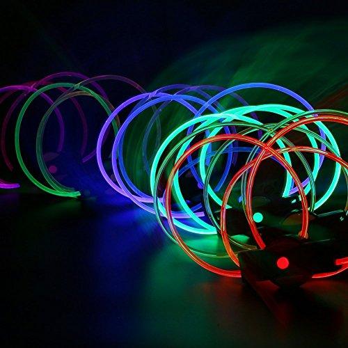 Led ShoeLaces [5 Pcs], LOHASIC Transparent Light Up Glow in the Dark Shoe Laces for Nighttime Activity Random Color