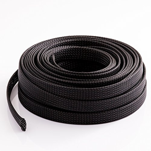 InstallerParts Cable Management and Organizer Cover - Expandable Braided Cord Sleeve 1/2' (12.7mm) x 100Ft (30.48m)