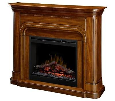 Dimplex DFP26-1339BW Dawson 45.7-Inch Tall by 52.5-Inch Wide Electric Fireplace Mantel, Burnished Walnut