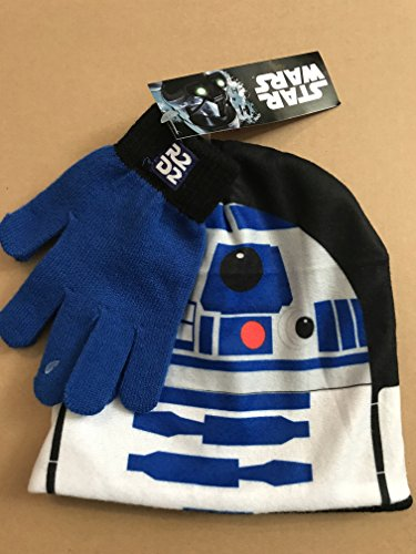 Star Wars R2D2 Hat and Glove Cold Weather Set - Kids Ages 4 - 10