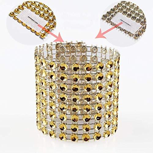 Diamond Reflector - SKY CANDYBAR Napkin Rings Rhinestone Napkin Rings Adornment For Wedding Party (50 PCS, Gold)
