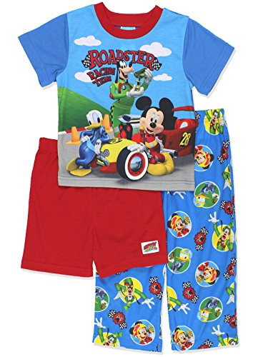Mickey Mouse and The Roadster Racers Boys 3 Piece Pajamas Set (3T, (Mickey Mouse Pajamas)