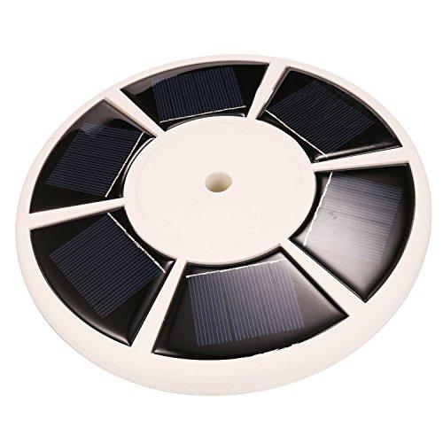 XKTTSUEERCRR 26 LED Solar Fahnenmast Landschaft Leuchte Wasserdicht - Weiß