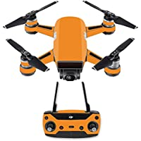 Skin for DJI Spark Mini Drone Combo - Solid Orange| MightySkins Protective, Durable, and Unique Vinyl Decal wrap cover | Easy To Apply, Remove, and Change Styles | Made in the USA