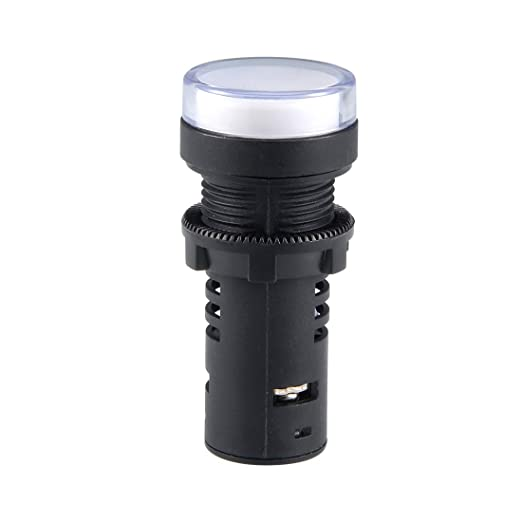 Red+Green LED Flush Panel Mount 7//8 22mm uxcell 2Pcs AC 380V Indicator Lights