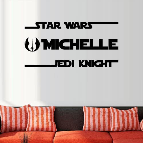 Custom Name Star Wars Jedi Font Wall Decal For Boys Girls Nursery Room
