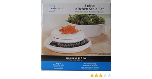 Amazon.com: Mainstays 2-piece Kitchen Scale Set: Measuring Cups: Kitchen & Dining