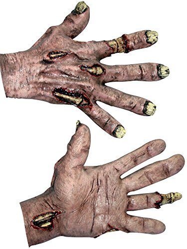 Zombie Flesh Hands Costume Gloves