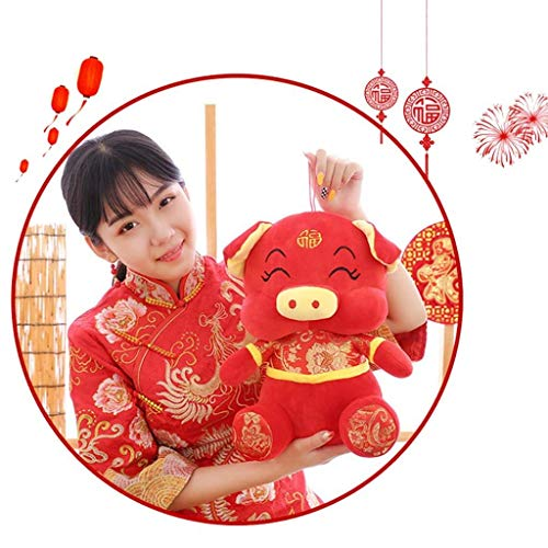 Mcree Mascot Pig Doll 2019 Chinese New Year Pig Zodiac Mascot Dolls in Tang Suit Soft Toys