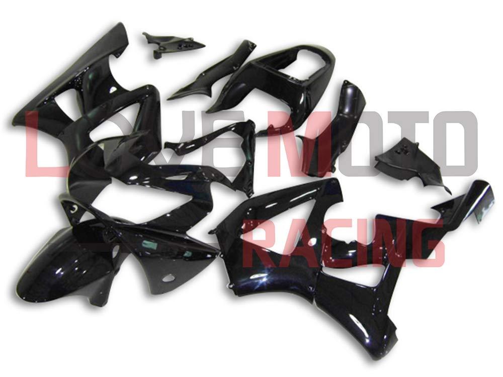 LoveMoto ブルー/イエローフェアリング ホンダ honda CBR900RR 929 2000 2001 00 01 CBR900 RR 929 ABS射出成型プラスチックオートバイフェアリングセットのキット ブラック   B07K7G9FBQ