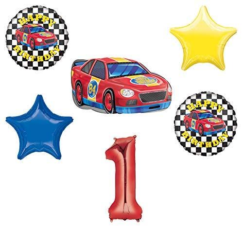 Race Car Theme 1st Birthday Party Supplies Stock
