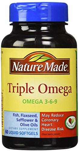 Naturaleza Triple Omega 3-6-9, 60 cápsulas