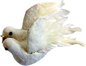 Westmon Works Wedding Dove Decoration Realistic Felt Doves with Rings Romantic Head Table Decor