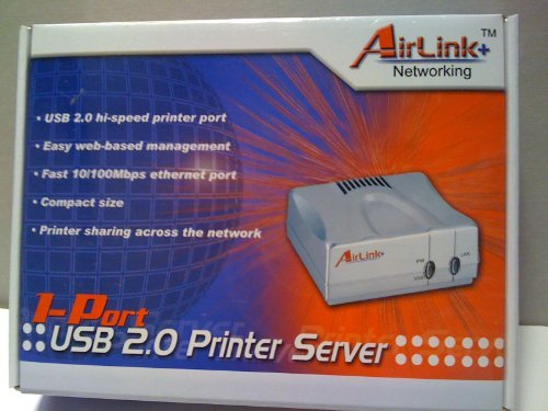 AirLink + Networking - 1-Port USB 2.0 Printer Server APSUSB201 by AirLink