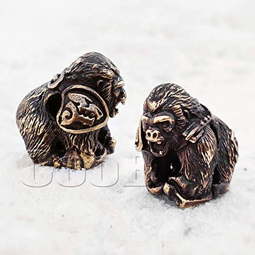 (CooB EDC Paracord Bead, Pendant, Charm Zipper Pull WILD GORILLA. DIY Hand-Casted Metal Amazing Beads Pendants Charms for Paracord Bracelet Knife Flashlight Keychain Lanyard (1pcs/Lot))