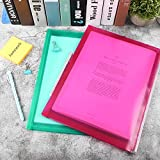 EOOUT 8pcs Poly Zip Envelopes Expandable Plastic