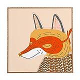 Deny Designs Mummysam,  Mr Fox, Framed Wall Art, Small, 12''x 12''
