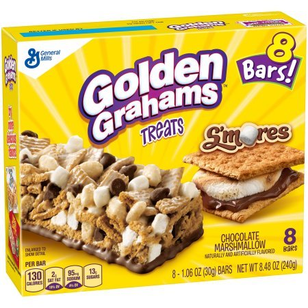 Golden Grahams S'mores Chocolate Marshmallow Treat Bars 1.06 ozx8 Bars, total 8.48oz