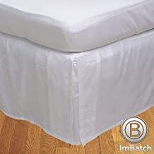 Floris Fashion King 300TC 100% Egyptian Cotton White Solid Superb Finish 1PCs Box Pleated Bedskirt Solid (Drop Length: 13 inches)