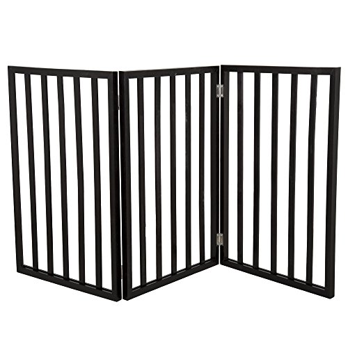PETMAKER-Freestanding-Wooden-Pet-Gate-Mahogany