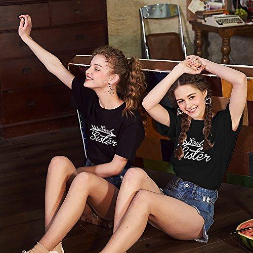 JWBBU Best Friends t-Shirts für Zwei Damen Beste Freundin Mädchen Shirt BFF  Freundschaft Geburtstagsgeschenk ... b7411c3893