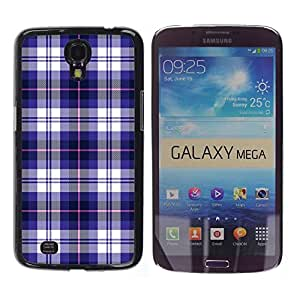 Stuss Case / Funda Carcasa protectora - Checkered Blue Pattern Fashion Brand Design - Samsung Galaxy Mega 6.3 I9200 SGH-i527