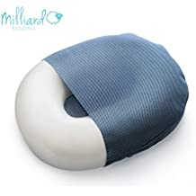 """Milliard Foam Donut Pillow Orthopedic Ring Cushion with Removable Cover, Large, 20x15"""" For Hemorrhoid, Coccyx, Sciatic Nerve, Pregnancy and Tailbone Pain, Firm"""