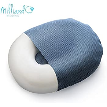 "Milliard Foam Donut Pillow Orthopedic Ring Cushion with Removable Cover, Large, 20x15"" For Hemorrhoid, Coccyx, Sciatic Nerve, Pregnancy and Tailbone Pain, Firm"