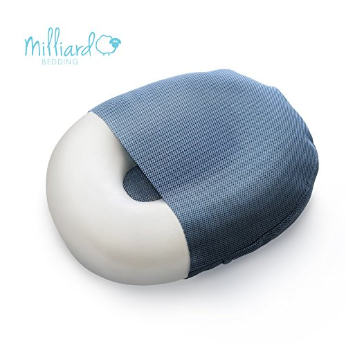 Milliard Foam Donut Pillow Orthopedic Ring Cushion with Removable Cover, Large, 20x15