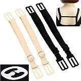 CAKYE Women's 4Pcs Non-slip Elastic Bra Strap Holder