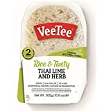 Veetee Dine In Rice - Microwavable Thai Jasmine Rice with Lime and Herbs - 10.6 oz - Pack of 6