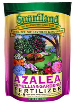 Sunniland Azalea , Camellia And Gardenia Fertilizer 8-4-8 Granules 20 Lb. -