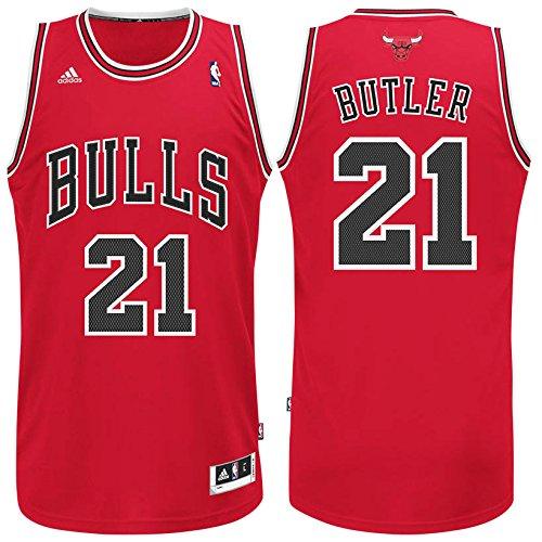 Jimmy Butler Chicago Bulls Adidas Road Swingman Jersey (Red) XL