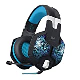 PC Hardware : VersionTech Professional Stereo Gaming Headset with Microphone for Mac PC Computer(Incompatible with PS4 PS3 Xbox One Xbox 360,Blue)